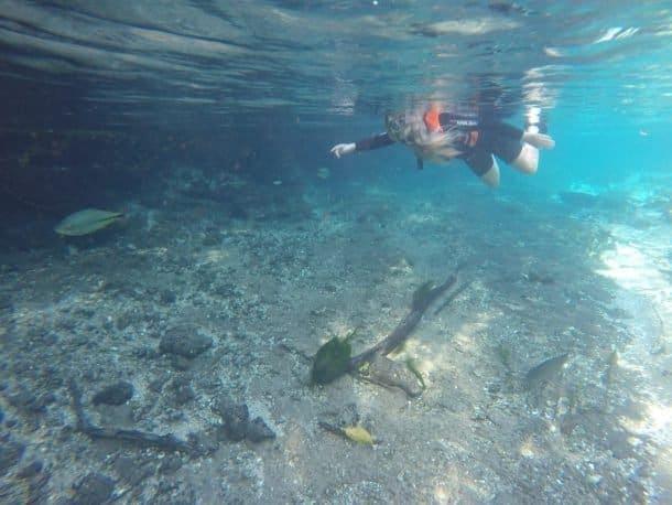 Atividade de flutuação em Bonito