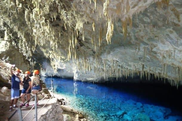 Gruta do Lago Azul, Gruta do Lago Azul, cartão postal de Bonito