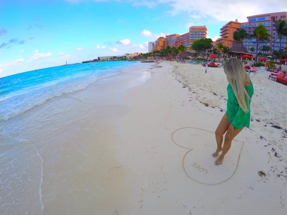 Praia de Cancun no México
