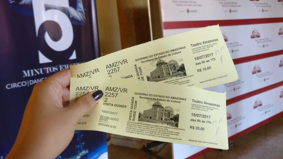Ingressos para o Teatro Amazonas