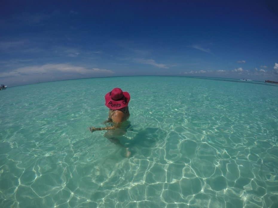 águas cristalinas da Isla Saona