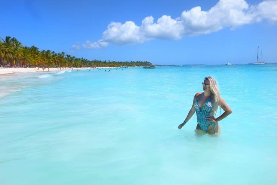Mar azul de Punta Cana, Isla Saona