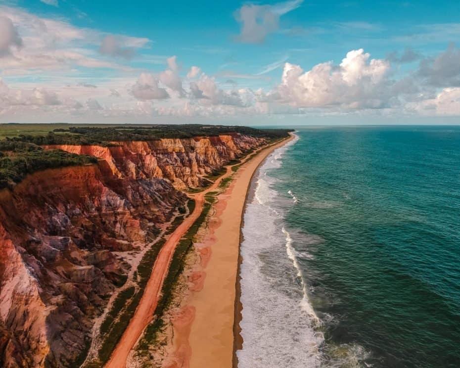 Falésias do gunga Alagoas