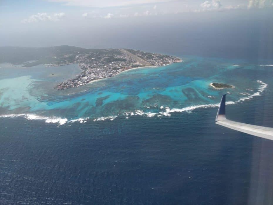 San Andres vista do avião