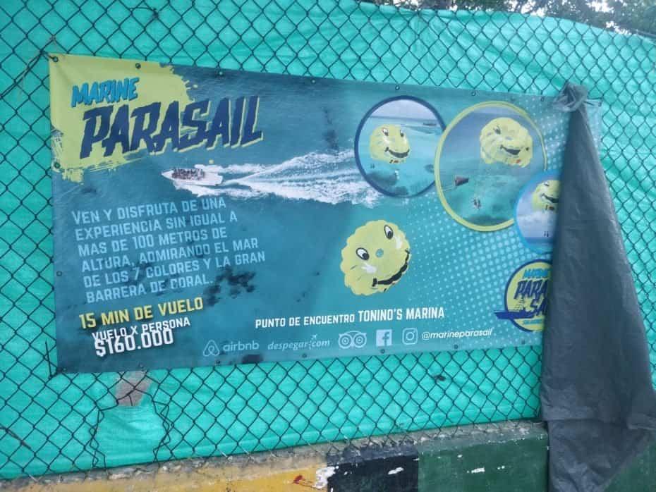 Parasail em San Andres