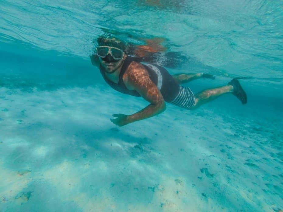 Mergulho em San Andres, água transparente