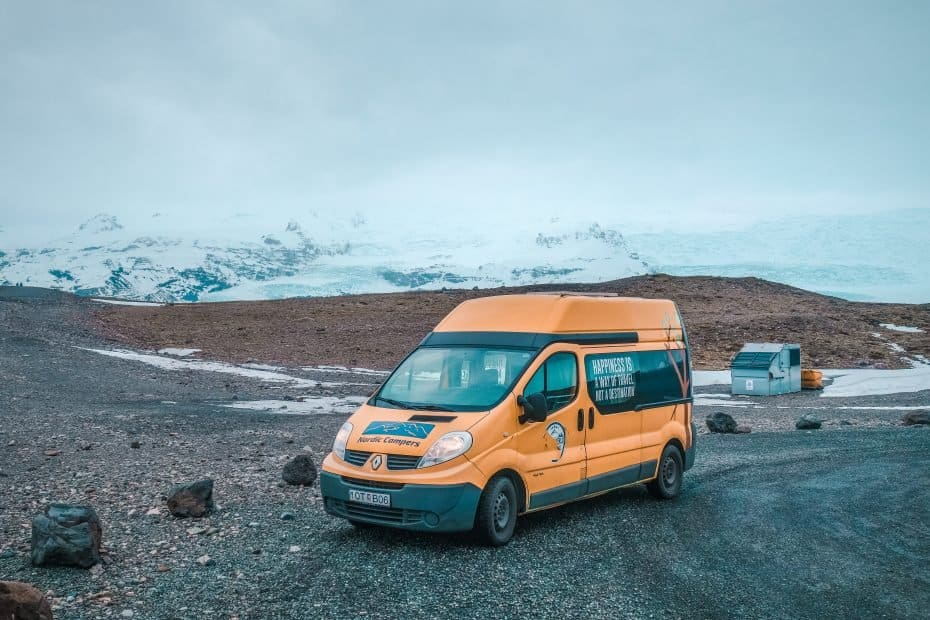Campervan na Islândia
