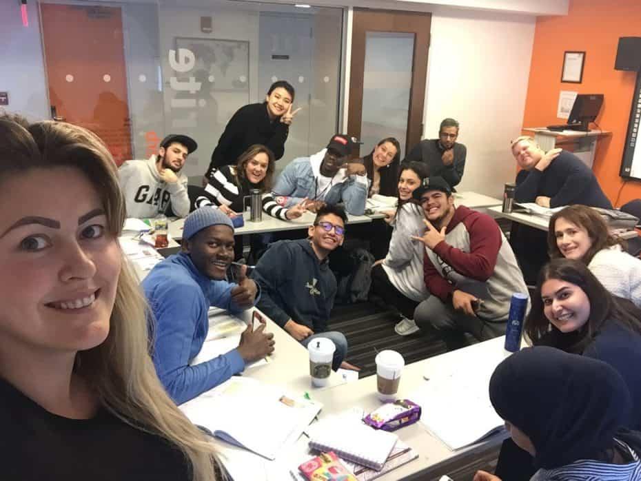 Intercâmbio de inglês em Boston, sala de aula