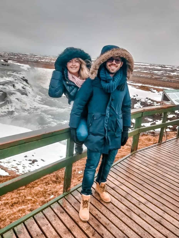 Principais paradas na Islândia - cachoeira Gullfoss