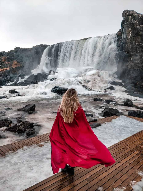 Þingvellir ou Thingvellir - principais cachoeiras no Golden circle - circulo dourado da Islândia