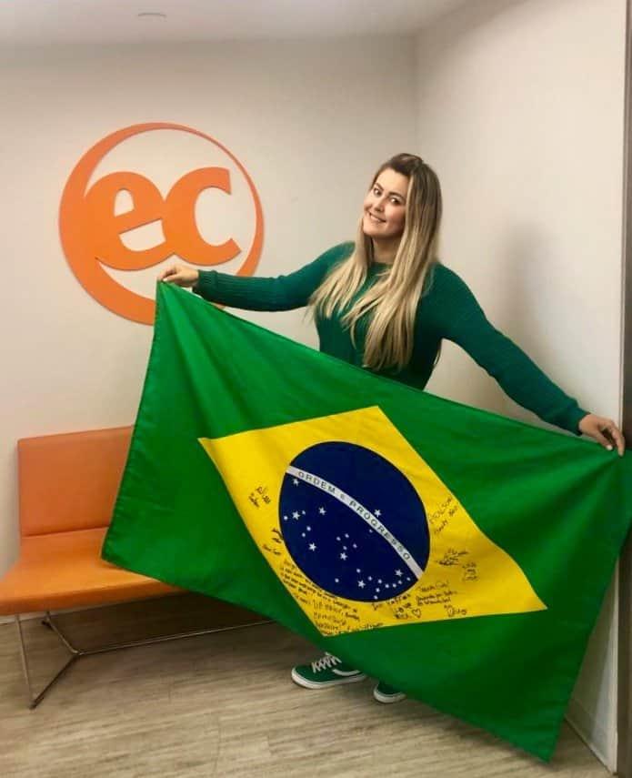 Bandeira do Brasil na EC Boston