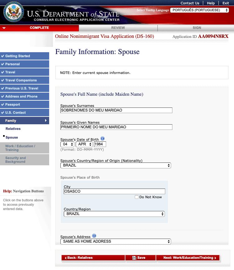 formulario ds 160