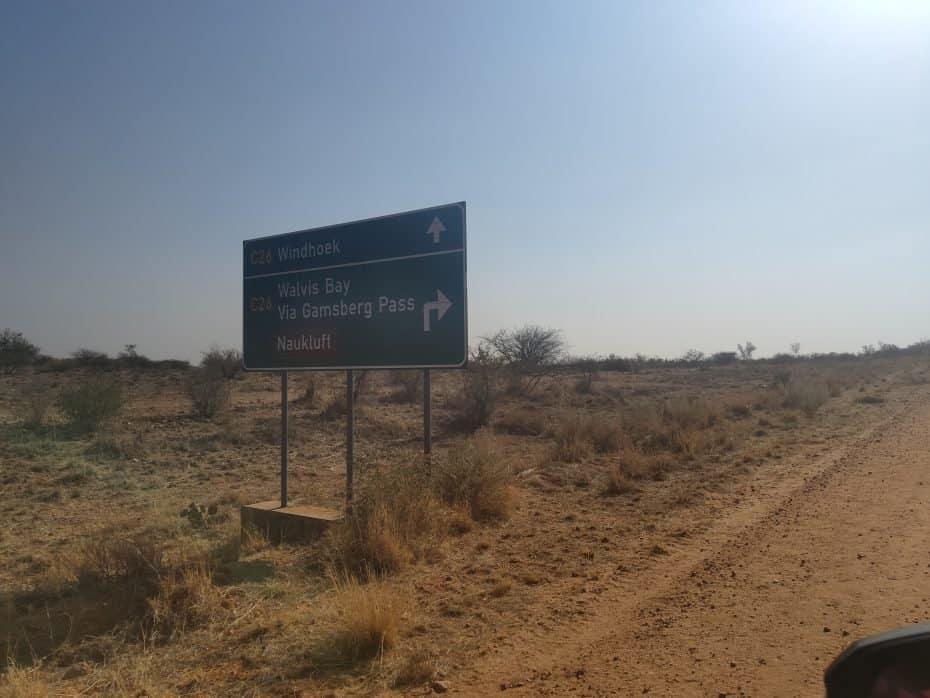 Estradas da Namíbia