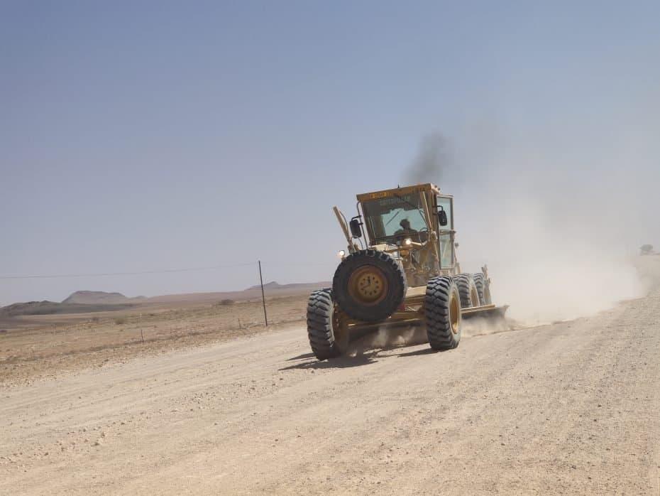 como são as estradas na Namíbia