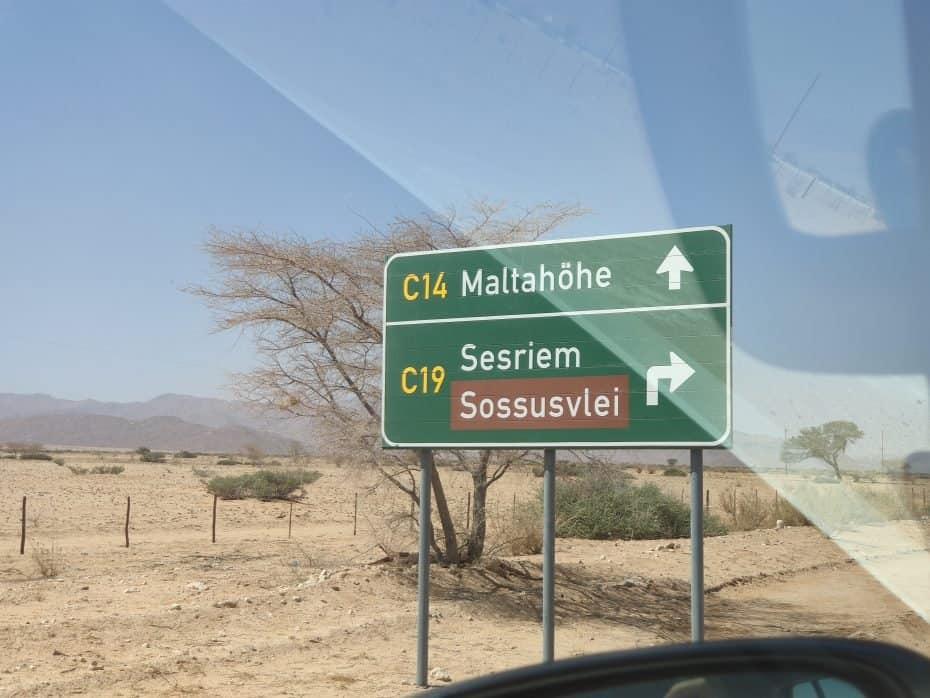 Placas na Namíbia