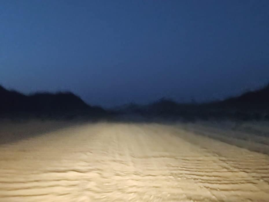 noite na Namíbia