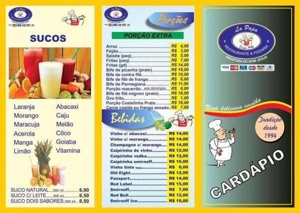 Onde comer em Pirapora do Bom Jesus, La Papa Restaurante e Pizzaria