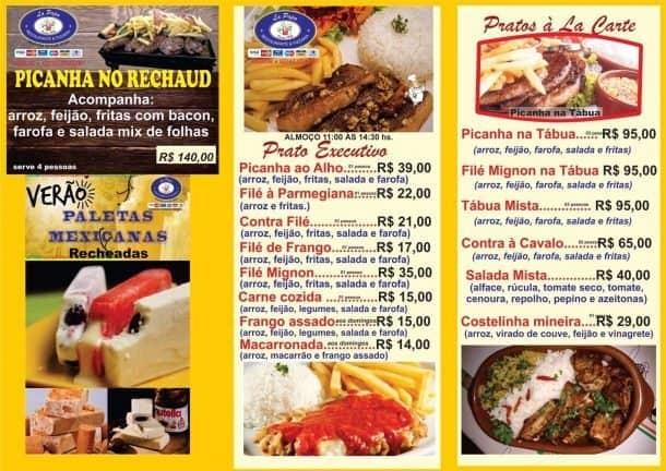 Pirapora do Bom Jesus, La Papa Restaurante, Pizzaria, Cardápio.