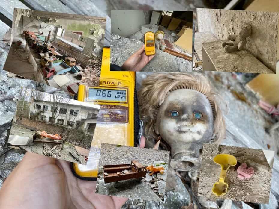 brinquedos de Chernobyl