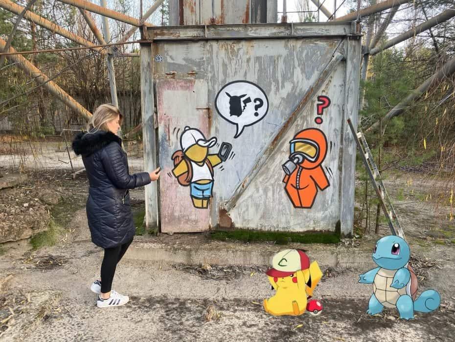 Pokemon go em chernobyl