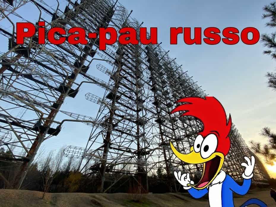 Duga 3 Pica-pau russo em Chernobyl.