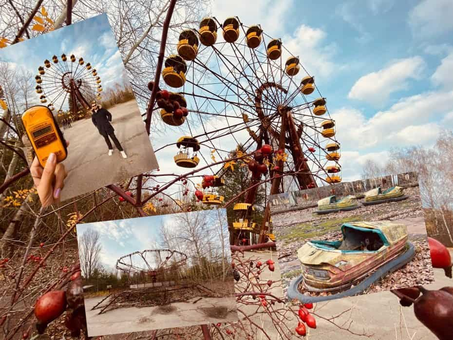 brinquedo do parque abandonado de Chernobyl