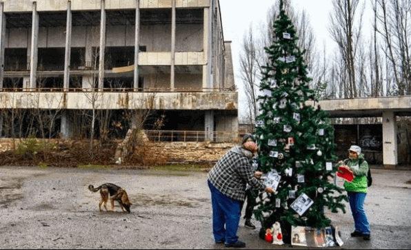 Chernobyl Hoje árvore de natal