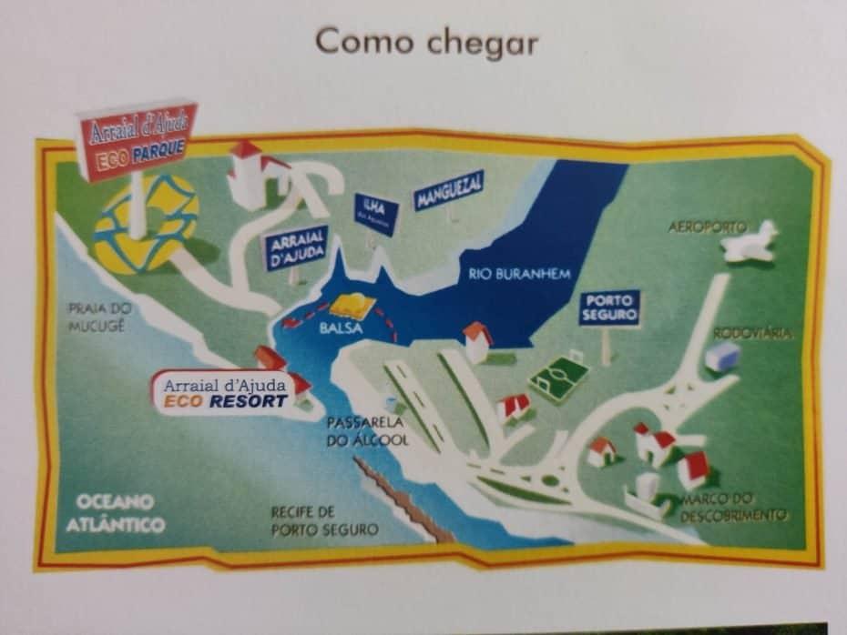 como chegar no Arraial d'Ajuda Eco Parque