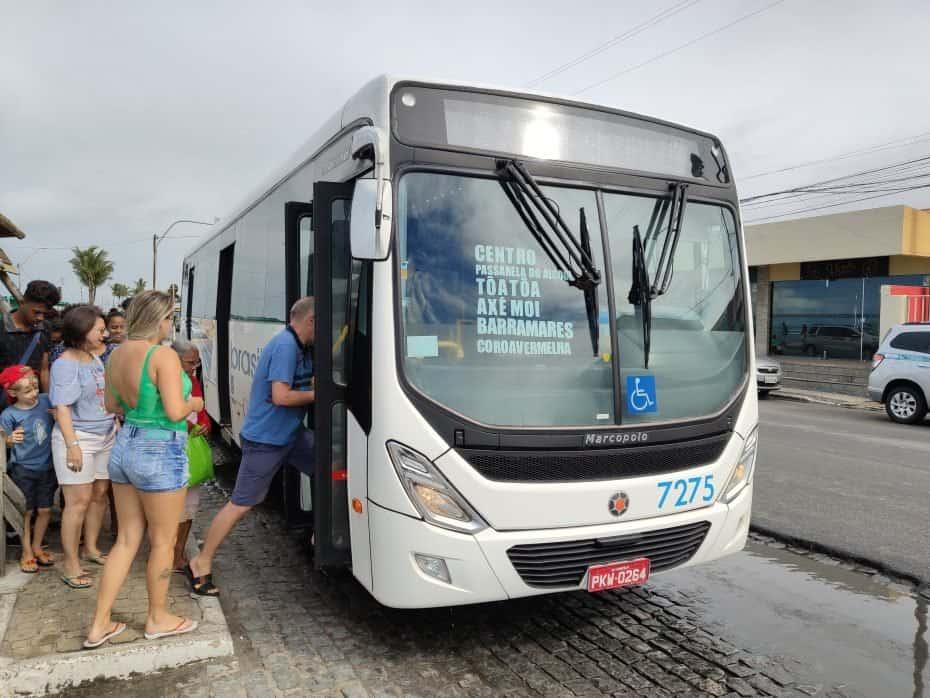 Como chegar em Coroa Vermelha de ônibus