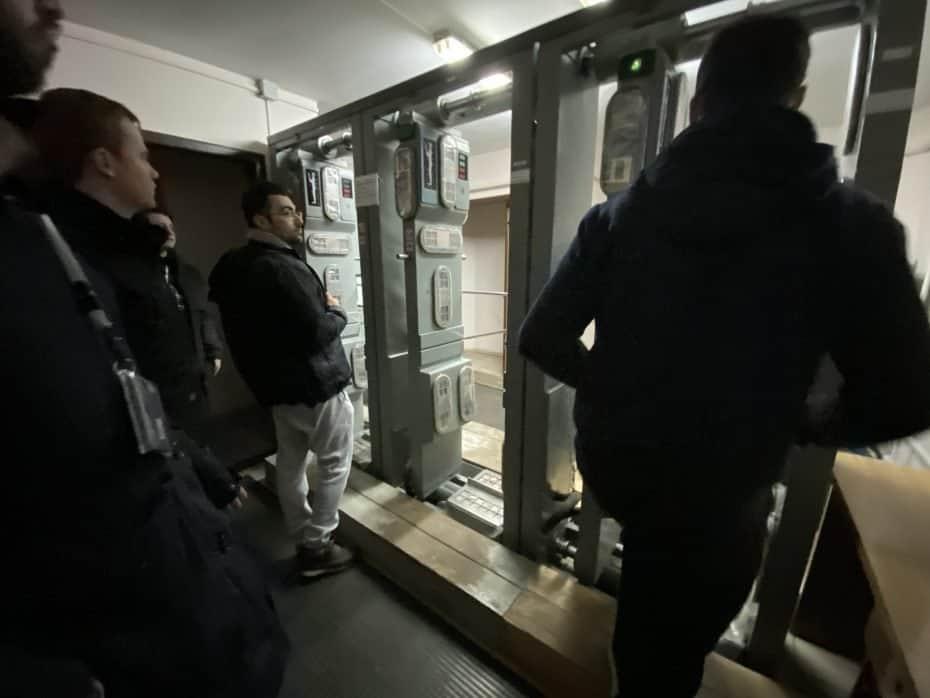 Saída de Chernobyl, máquinas para medir a radiação