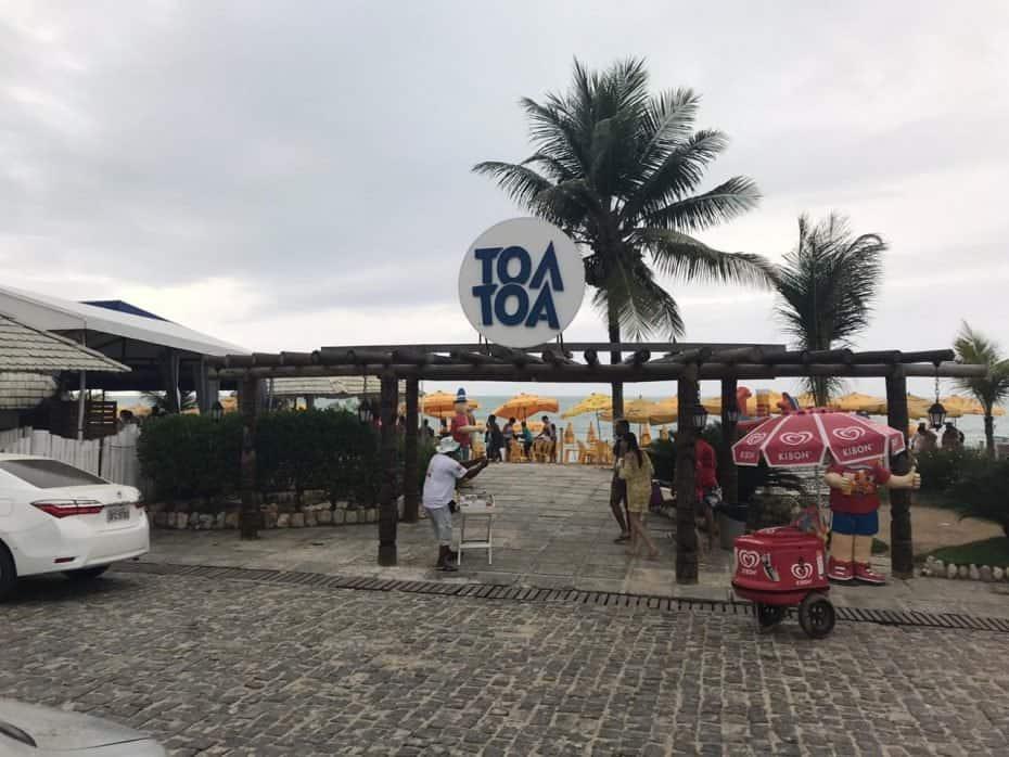 Praia de Taperapuã na Bahia