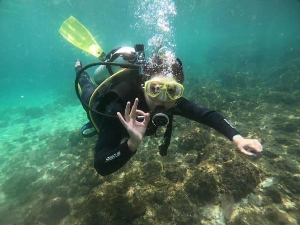 Ilha das Couves mergulho com cilindro