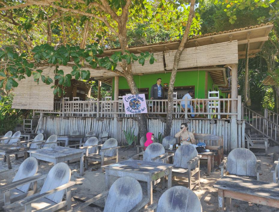 Restaurante sem consumação na Praia do Espelho