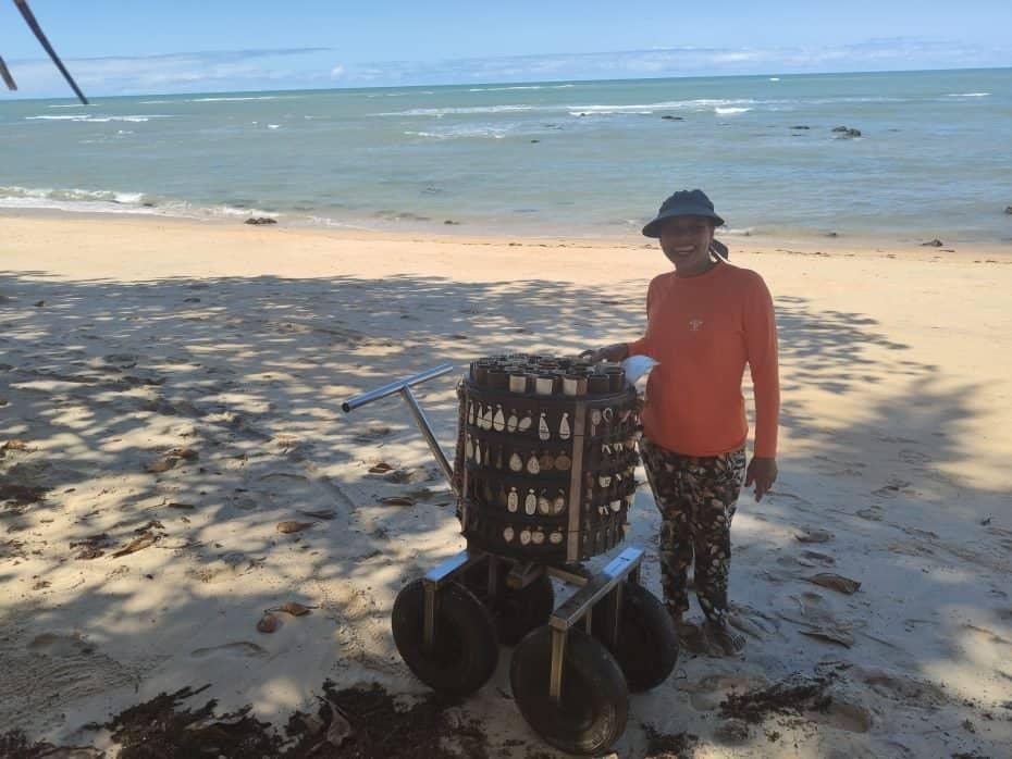 carrinho de artesanato nas praias de Porto Seguro