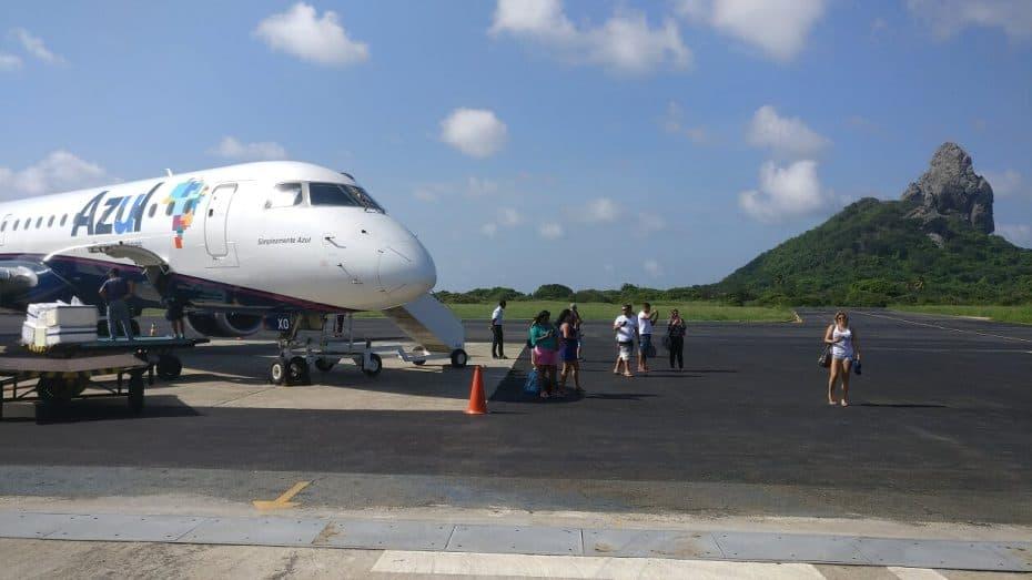 Aeroporto de Noronha, meios de transportes