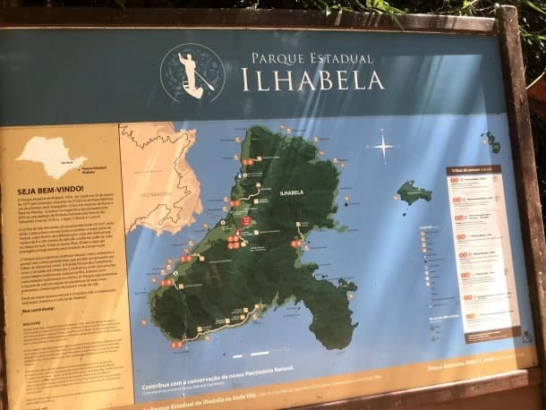 Praia da Feiticeira Ilhabela mapa