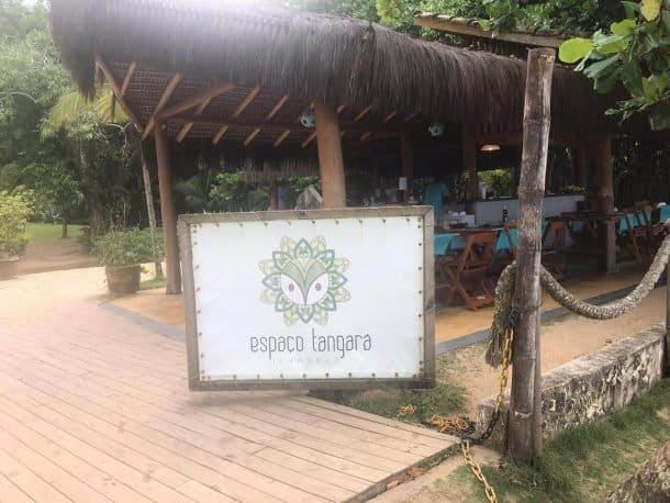 Praia do Jabaquara Ilha Bela onde comer restaurante Tangara