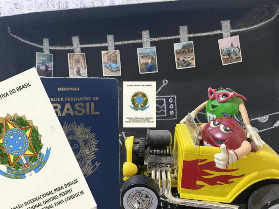PID - permissao internacional para dirigir e passaporte