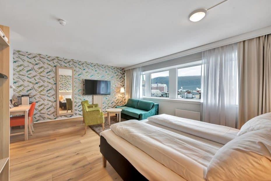 Onde ficar em Tromso, hotel aurora boreal