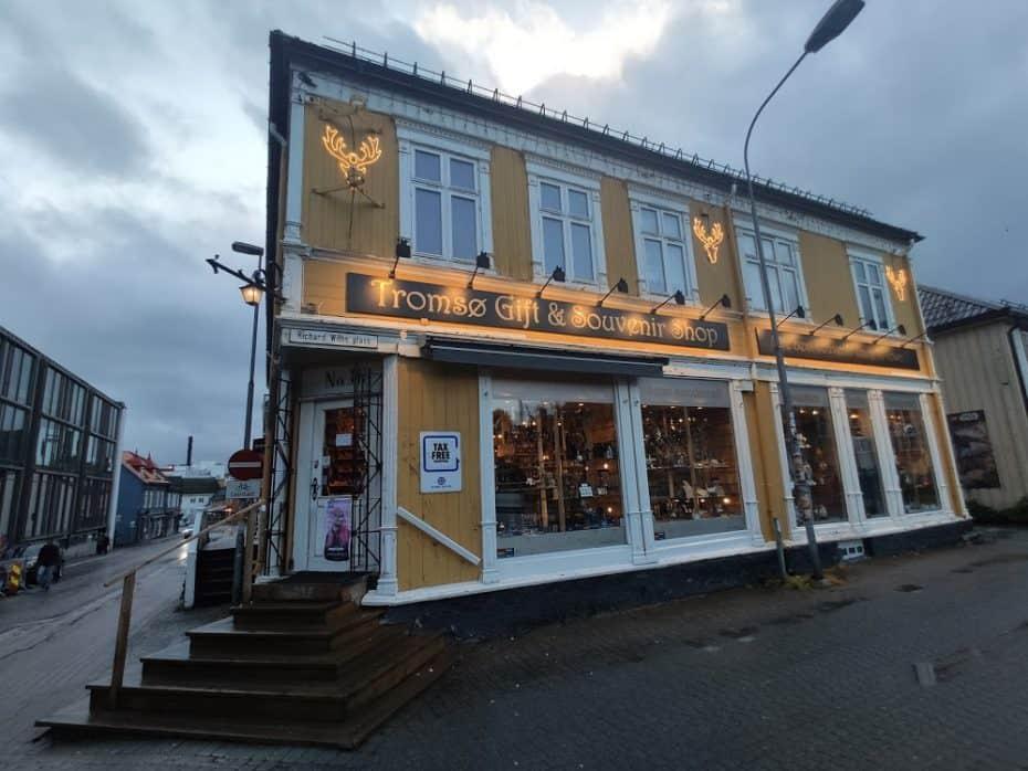 Loja de souvenir em Tromso