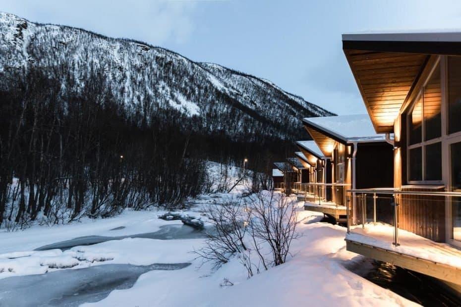 acampamento em Tromso na Noruega