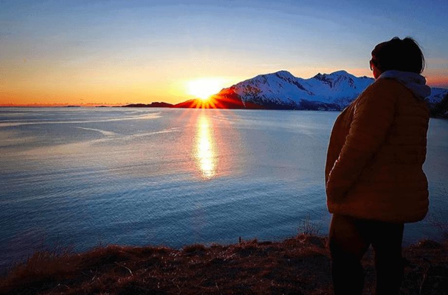 Sol da meia noite em Tromso