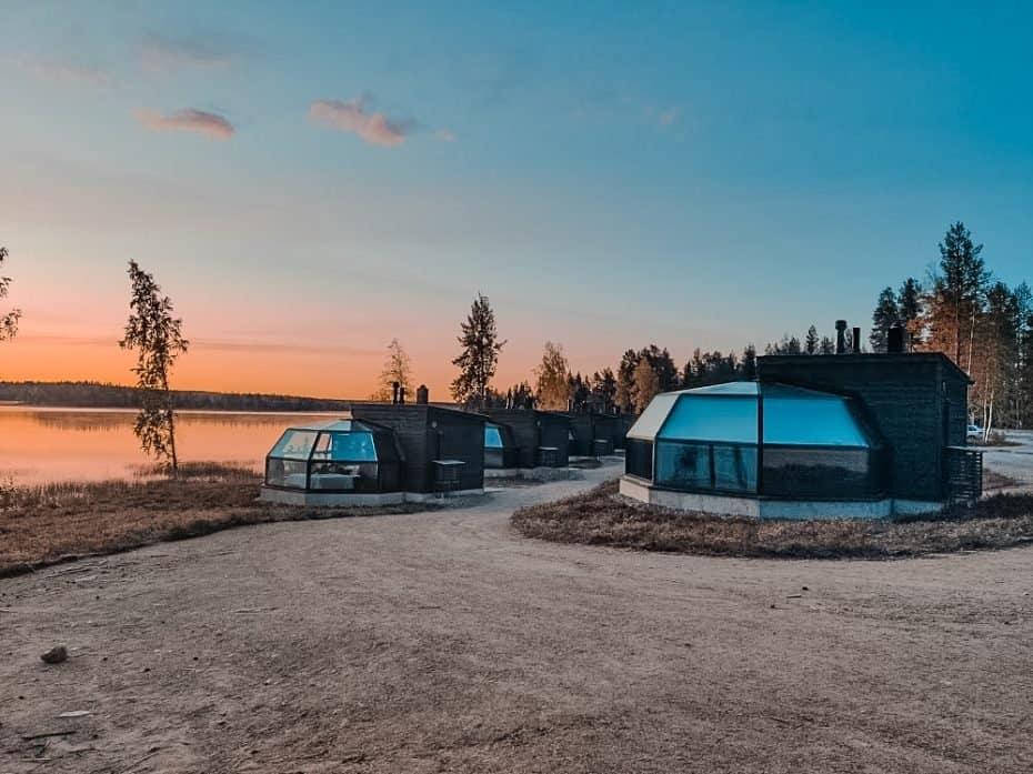 Iglu de vidro na finlandia