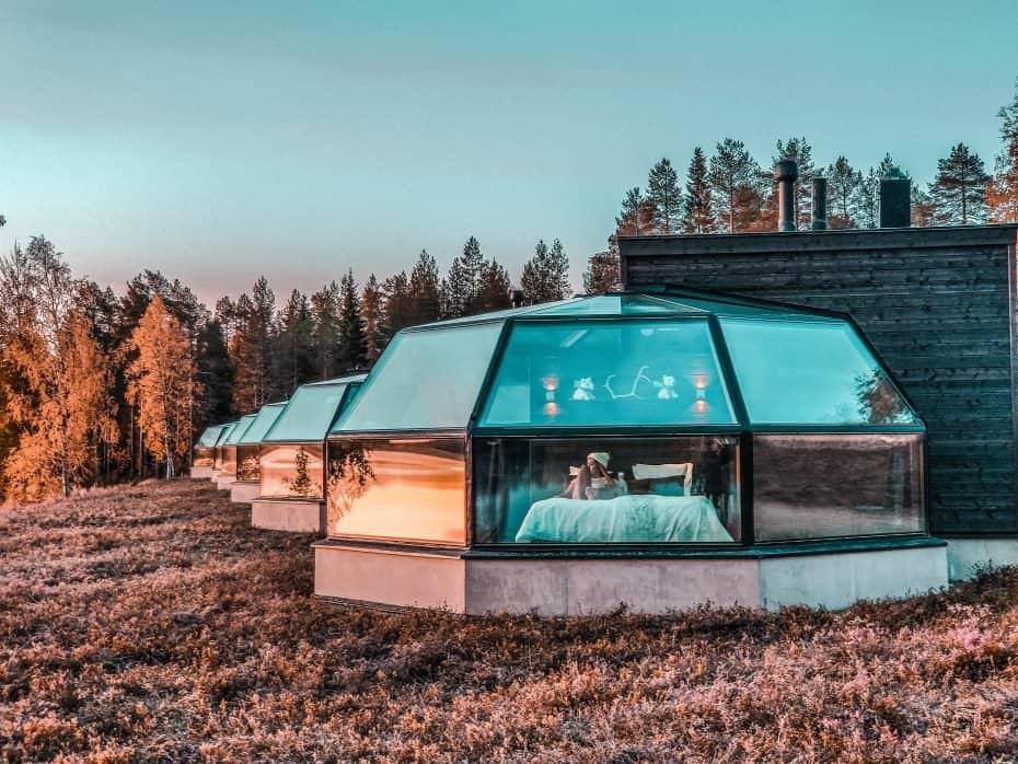 Iglu de vidro perto de Rovaniemi.