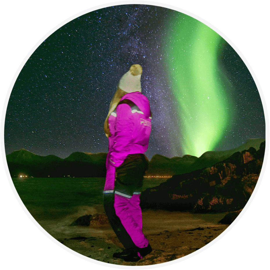 Aurora boreal em Tromso