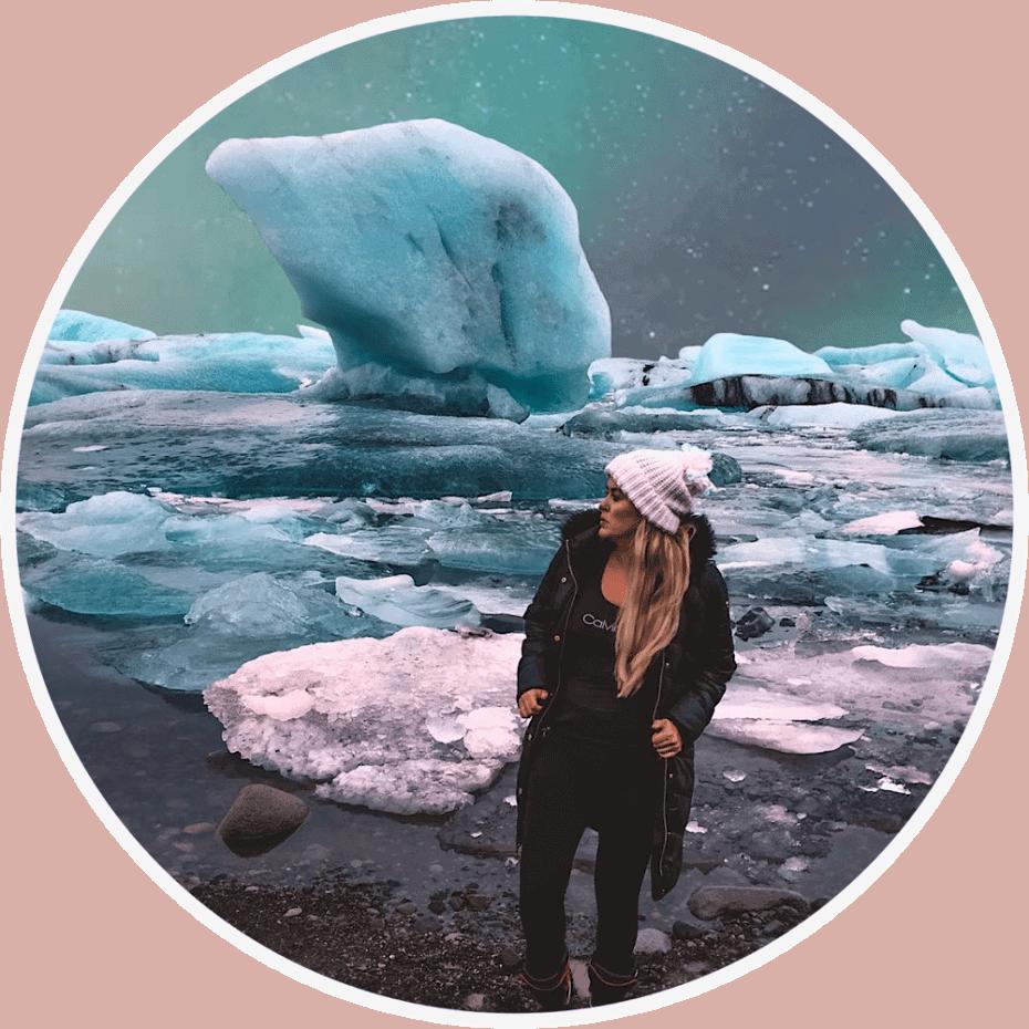 Aurora boreal na Islândia.