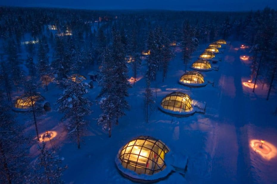 Hotel, iglu de vidro na Finlândia