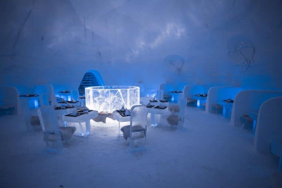 hotel feito de gelo