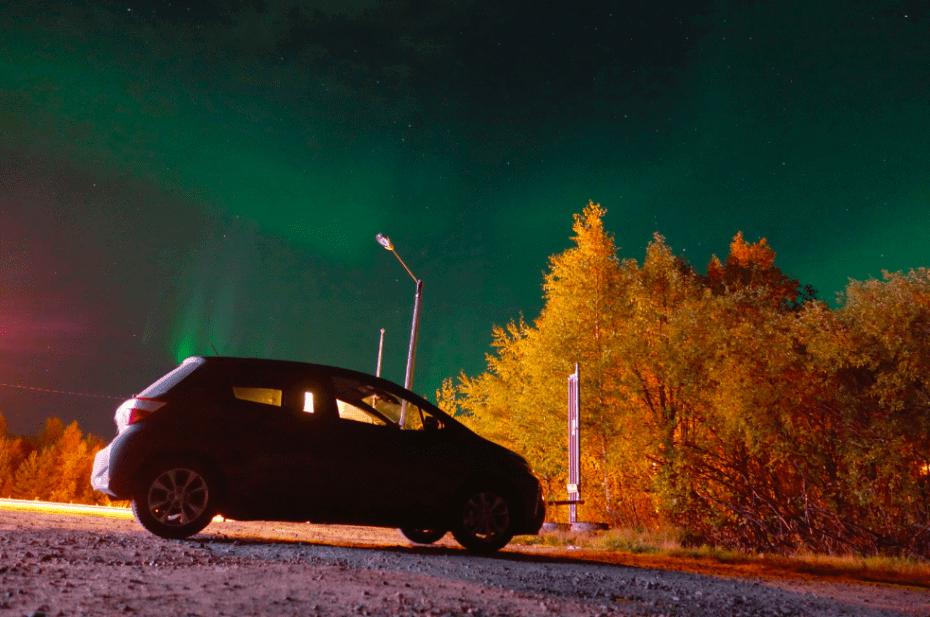 Viajando de carro pela Finlândia
