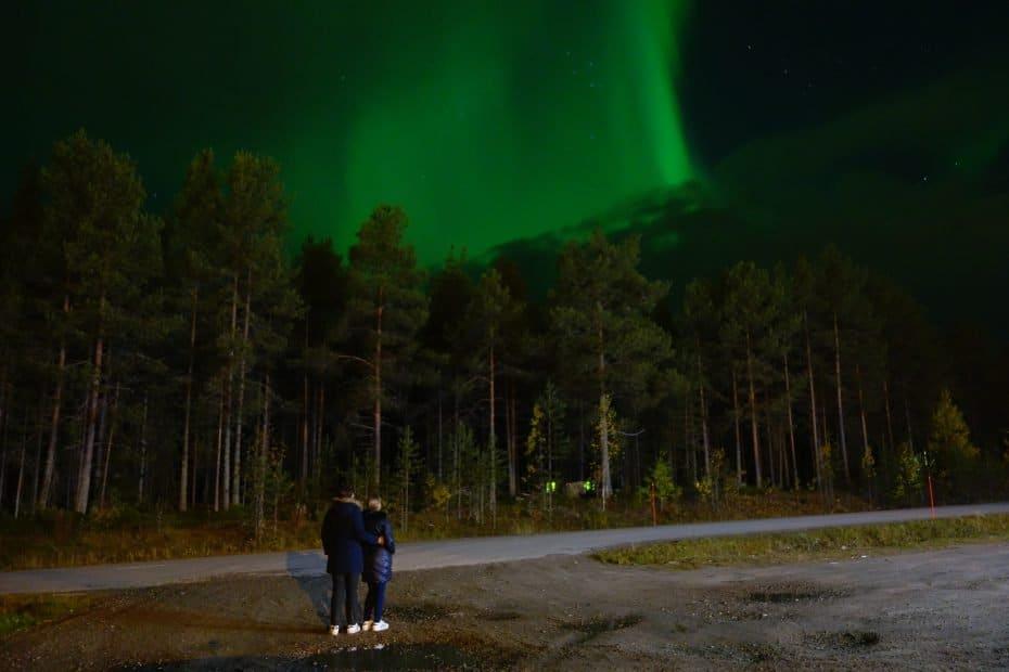 Aparecer na foto da aurora boreal